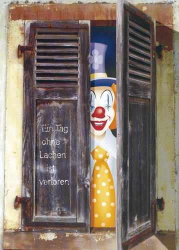 Clown-Postkarte