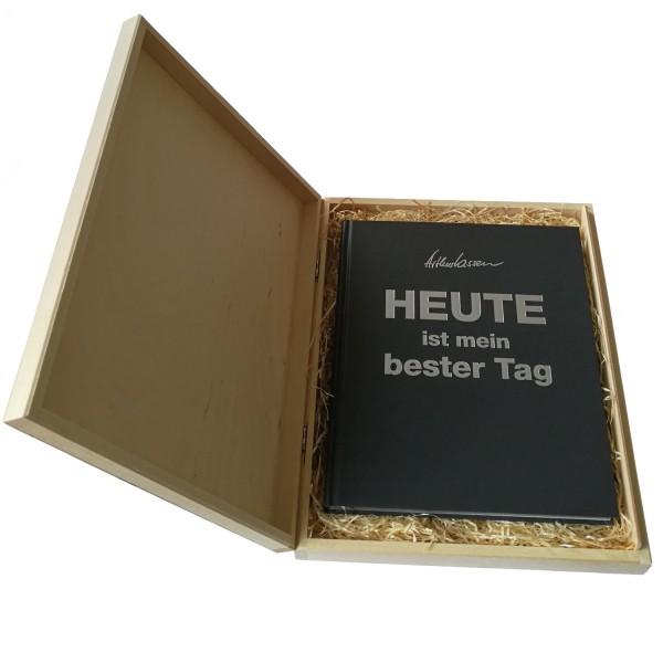 Geschenkbox + HEUTE-Buch Luxus-Editon grau