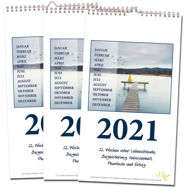Wochenkalender 2021 - 3er-Set