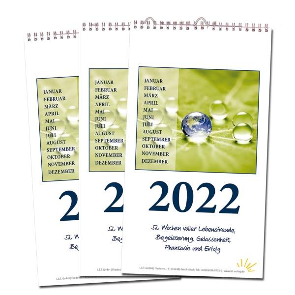 Wochenkalender 2022 - 3er-Set