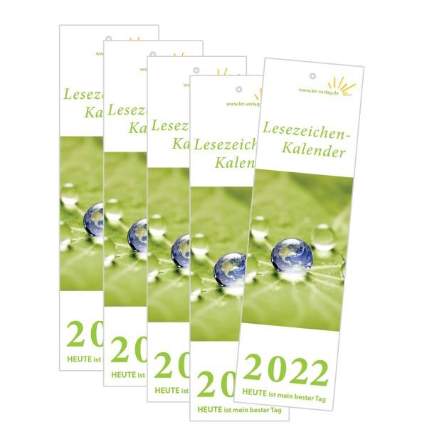 Lesezeichenkalender 2022 - 5er-Set