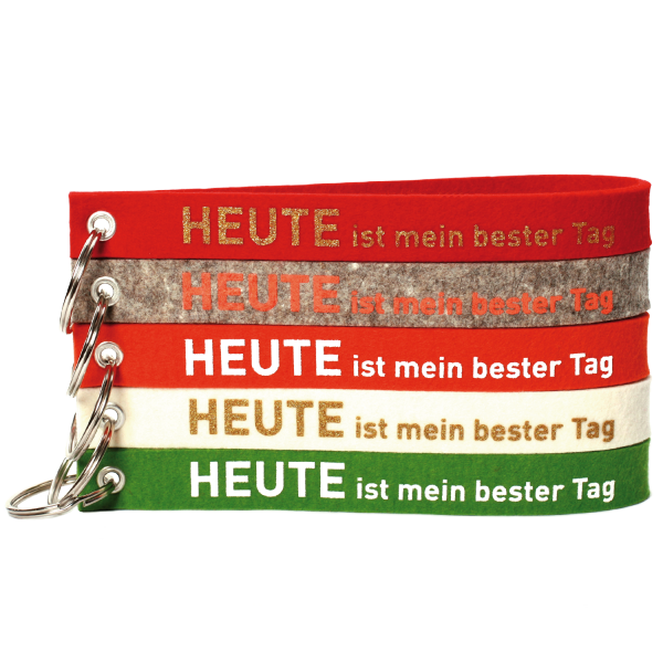 """Schlüsselband """"HEUTE ist mein bester Tag"""" - Farbvarianten"""