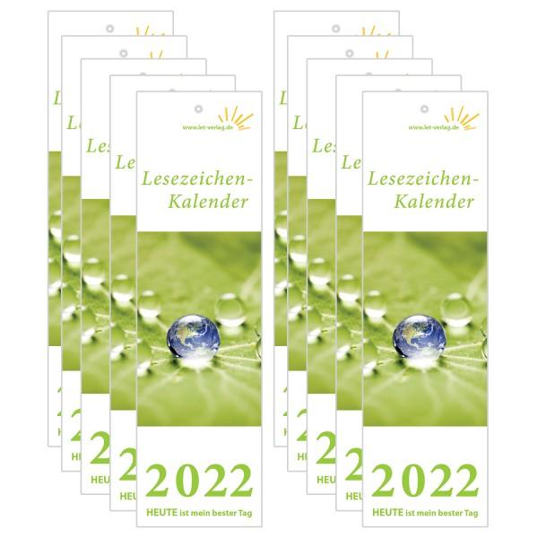 Lesezeichenkalender 2022 - 10er-Set