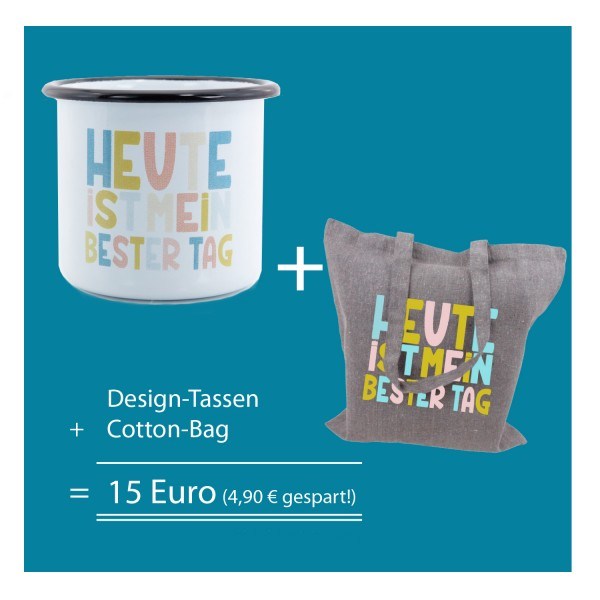 Design-Tasse + Cotton-Bag