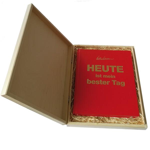 Geschenkbox + HEUTE-Buch Luxus-Edtion rot